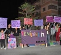 Baraka Kadına Şiddete Karşı Sokaktaydı