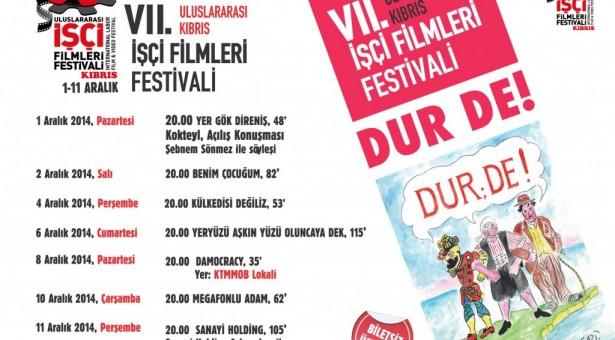 7. ULUSLARARASI KIBRIS İŞÇİ FİLMLERİ FESTİVALİ BAŞLIYOR!