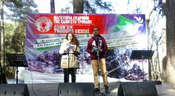 """Baraka Edon'un etkinliğine katıldı: """"Sınırsız, sınıfsız, halkları kardeş bağımsız bir Kıbrıs için"""""""