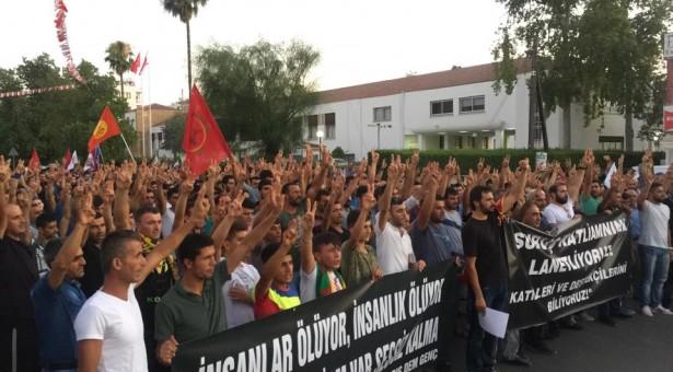 SURUÇ KATLİAMI PROTESTO EDİLDİ