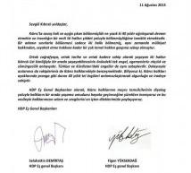 """HDP ve Halkevleri'nden """"Bağımsız Kıbrıs"""" Eylemine Dayanışma Mesajı"""