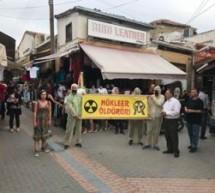 Nükleere Hayır Platformu Lefkoşa Çarşısında Farkındalık Eylemi Gerçekleştirdi