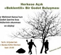 """Yazar Mehmet Kansu ile """"Beklentili"""" Bir Godot Söyleşisi  (Öykü Okuma ve Söyleşi)"""
