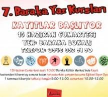 7. Baraka Yaz Kursları Başlıyor