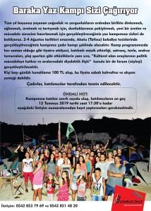 Baraka Yaz Kampı Görsel