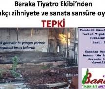 Baraka'dan Devlet Tiyatroları Önünde TEPKİ Oyunu